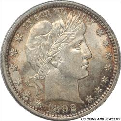 1892 Barber Quarter Select/Choice Uncirculated