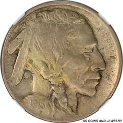 1913-D T1 Buffalo Nickel NGC XF40 Attractive Lightly toned Hidden Gem