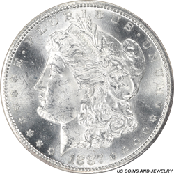 1887-S Morgan Silver Dollar NGC MS63 Rolling Brilliant Luster