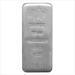 #SPECIAL 10oz .999 Silver Suisse Pamp Bar