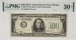 $500 1934A FRN CHICAGO FR#2202-G PMG