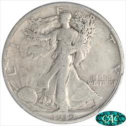 1919-S Walking Liberty Half Dollar PCGS and CAC F15