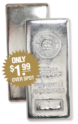 100 OZ RCM SILVER BAR  Royal Canadian Mint