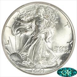1941 Walking Liberty Half Dollar PCGS MS67+ CAC Blast White