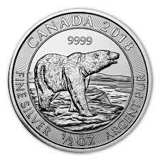 #SPECIAL 1/2 OZ SILVER CANADIAN POLAR BEAR