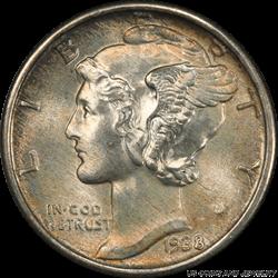 1938 Mercury Dime  PCGS MS67+FB