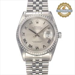 Rolex 36mm Date Just 16234 Roman Dial w Engine Turned Bezel Watch Only