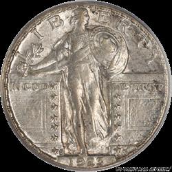 1923-S Standing Liberty Quarter PCGS AU55 Nice Well Struck Coin