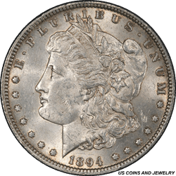 1894 Morgan Silver Dollar PCGS MS62 Select Uncirculated Key Date