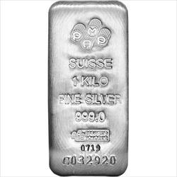 1 Kilo .999 Silver Suisse Pamp Bar