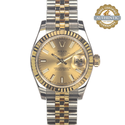 Rolex 26mm Datejust 179173 TT SS and 18K YG Jubilee Watch and Card