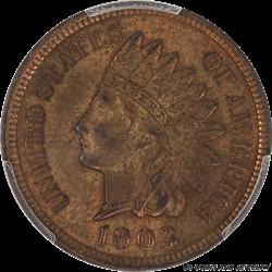 1903 INDIAN 1C PCGS MS 62 BN
