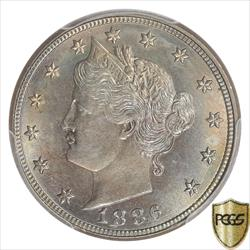 1886 Liberty V Nickel PCGS MS64 Low Mintage Key Date