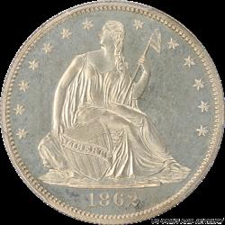 1862 Seated Liberty Half Dollar PCGS PR64