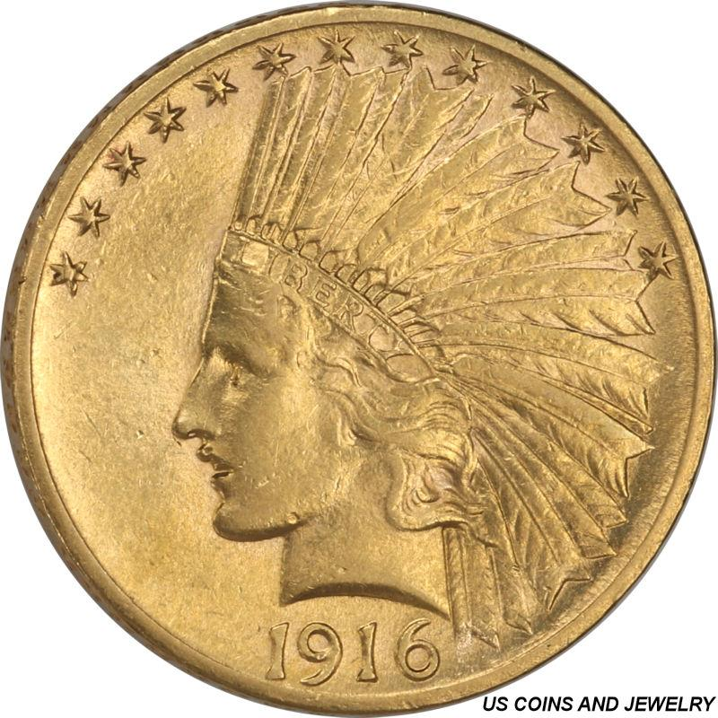 1916-S Indian $10 Gold Eagle