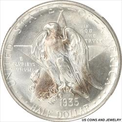 1935-S Texas Half Dollar Commemorative NGC MS67 Gem Brilliant Luster