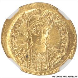 AD 457-474 Eastern Roman Empire, Leo I NGC AU Strike 4/5 Surface 2/5