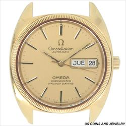 Vintage 1970s Omega 35mm Constellation Day Date 18K YG Head Only