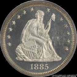 1885 Seated Liberty Quarter PCGS PR66 CAM Super Nice Coin