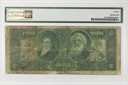 1896 $2  Educational Silver Certificate FR# 247 PMG F-12