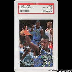 1995 Flair #206 Kevin Garnett PSA NM-MT 8