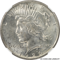 1926-D Silver Peace Dollar NGC MS63 Better Date Peace Dollar