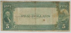 Frist National Bank of Throckmorton, Texas - Chater 6001, $5 Series of 1882 Value Back