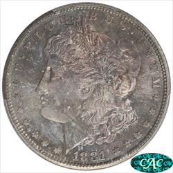 1881-S Morgan Silver Dollar PCGS and CAC MS67