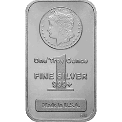 1 OZ SILVER BAR MORGAN