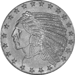 1 OZ Incused Indian Silver Round