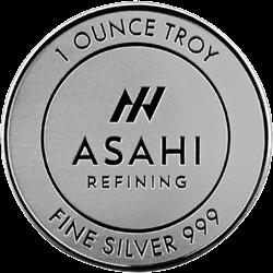 1 OZ SILVER ROUND ASAHI