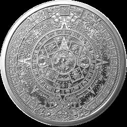 1 OZ SILVER ROUND AZTEC CALENDAR