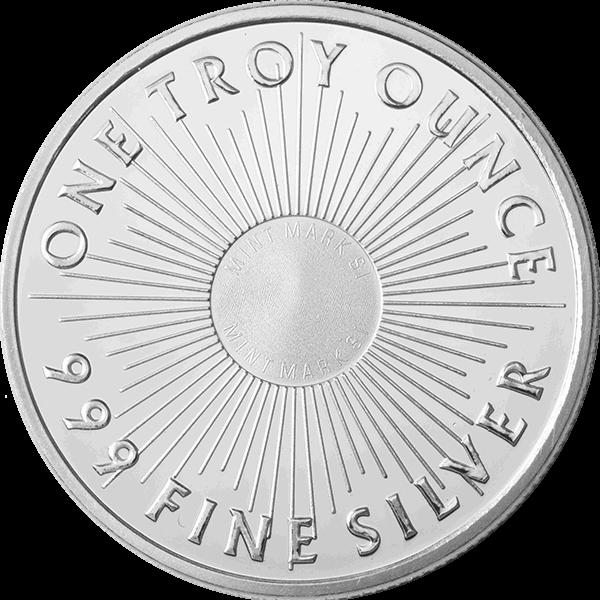 1 OZ SILVER ROUND SUNSHINE