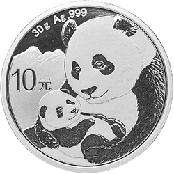 2019 30 GRAM CHINESE SILVER PANDA